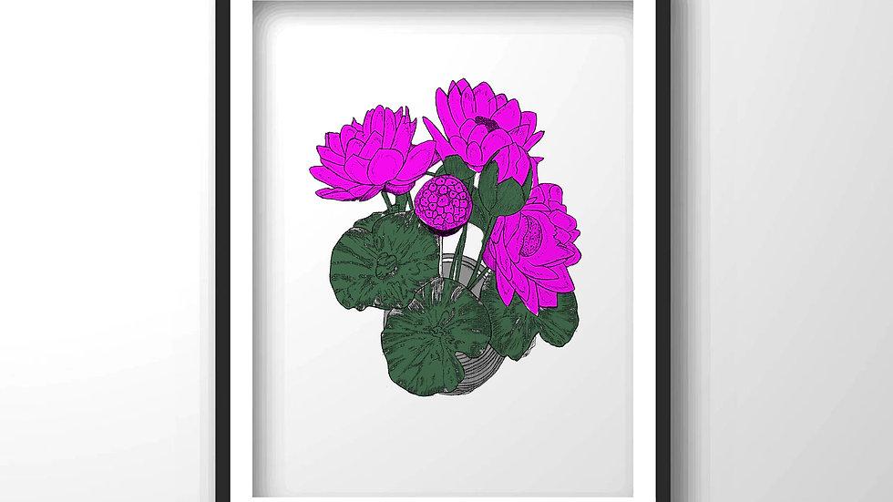 purple flowers,Framed wall decor