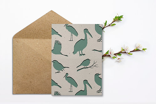 Birds - paper recycling
