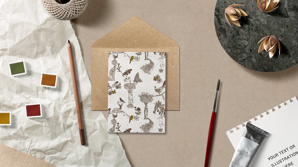Seed embed plantable greeting card-Hint of Gold -2