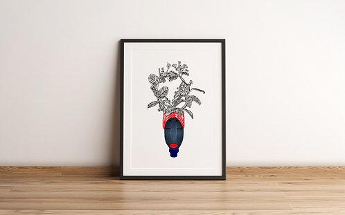 bottle-Framed Art