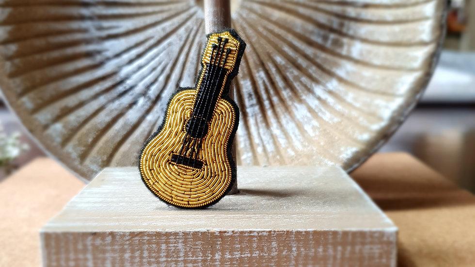 Guitar - Gold Work Brooch