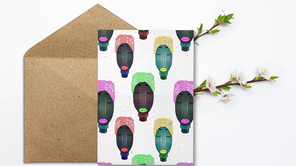 Seed embed plantable greeting card-Planters -Reused Plastic Bottles- 5