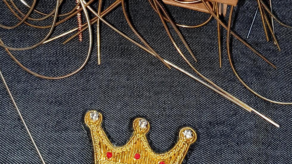 Crown - Gold Work Brooch