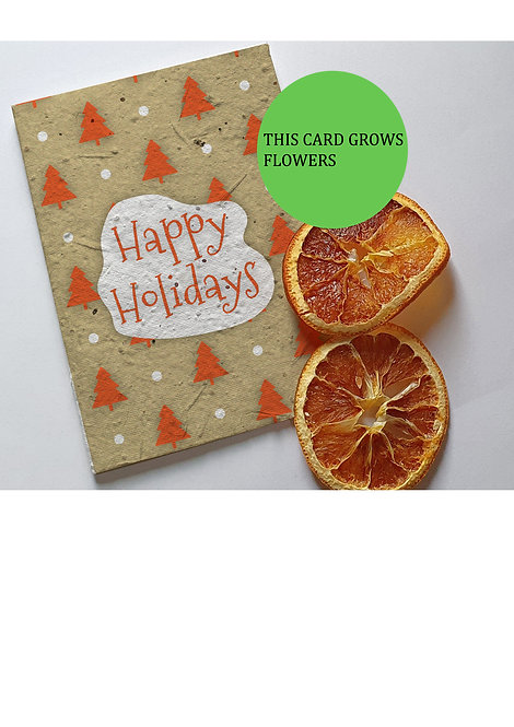 seed embed greeting card, Handmade Greeting cards, plantable greeting cards