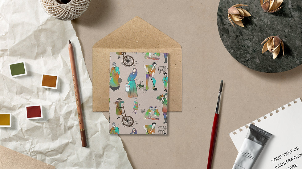 Seed embed plantable greeting card-Bucolic - Country living- 3