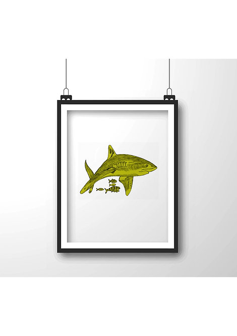 shark,Framed wall decor