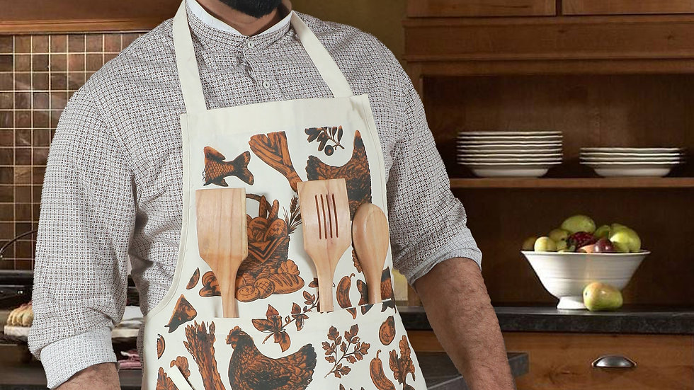 Hand Pulled Screen Printed Apron
