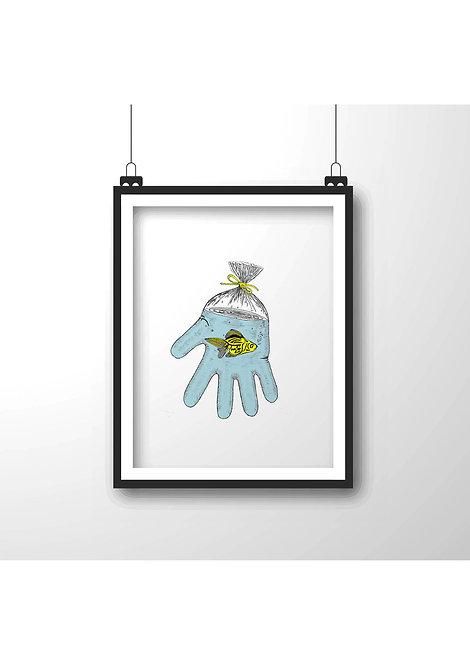 hand,Framed wall decor