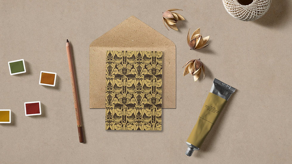Seed embed plantable greeting card-Raised and Engraved