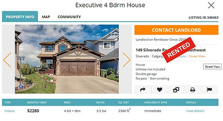 Calgary House rental