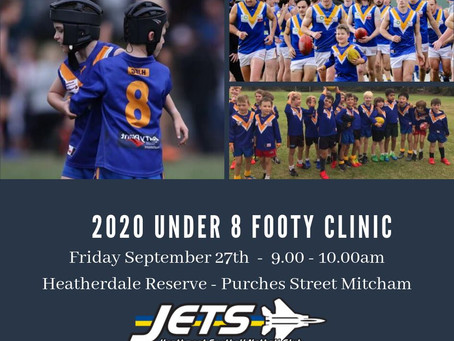 Jet's Under 8 Grand Final Clinic - 27/9