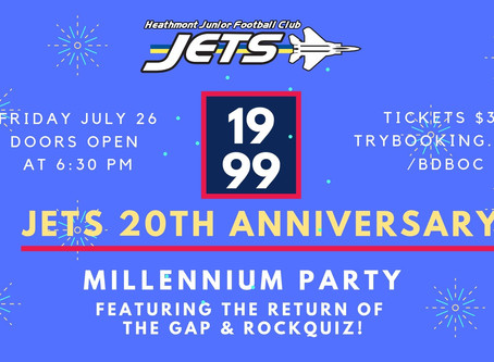 Jet's 20th Anniversary Millennium Party - Event Information