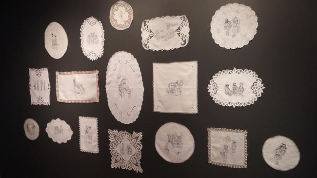 Installation de sérigraphies, Centre d'art Jacques et Michel Auger, 2016