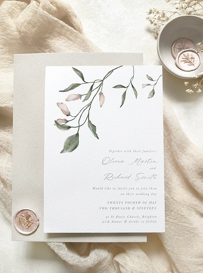A M E L I A . wedding invitation