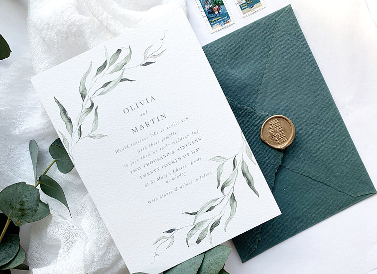 S O P H I A . wedding invitation