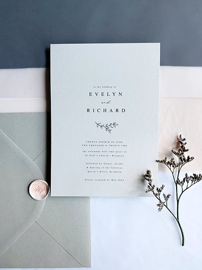 M I N I M A L . wedding invitation