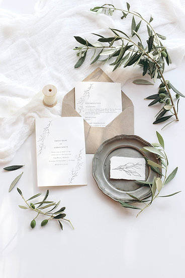 A L I C E . wedding invitation