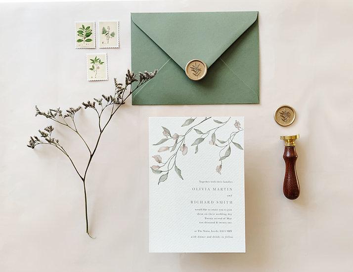 A M E L I A . wedding invitation