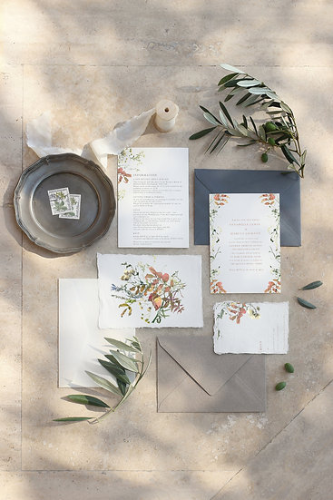 A U T U M N . wedding invitation