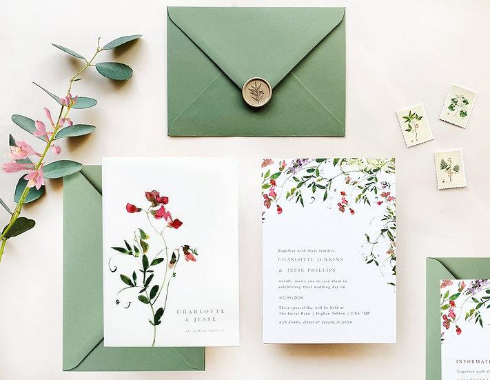 L A R A . wedding invitation