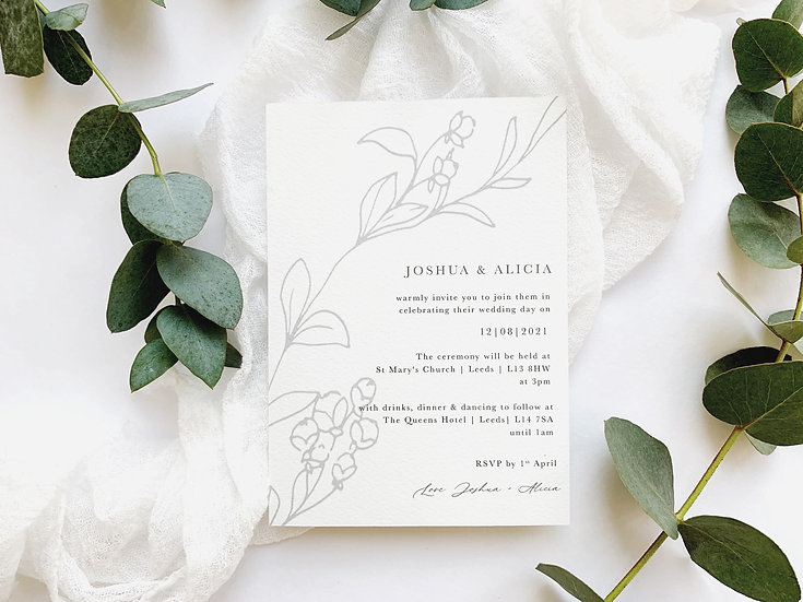 C H L O E . wedding invitation