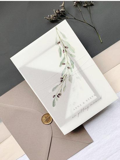 O L I V I A . wedding invitation