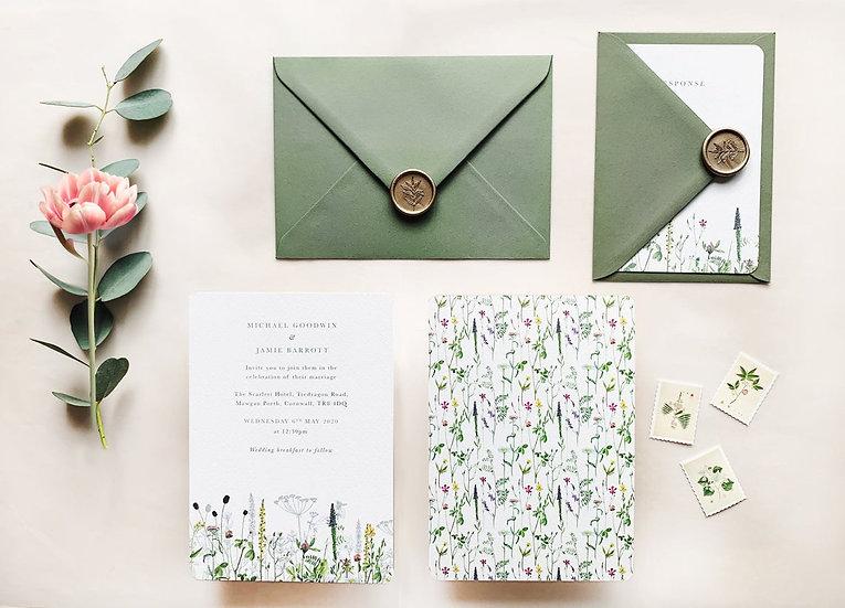 A D R I E N N E . wedding invitation