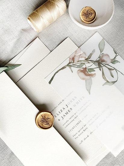 E L I Z A . wedding invitation