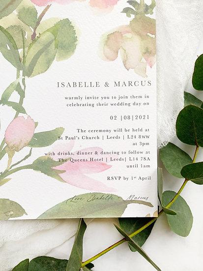 A Y L A . wedding invitation