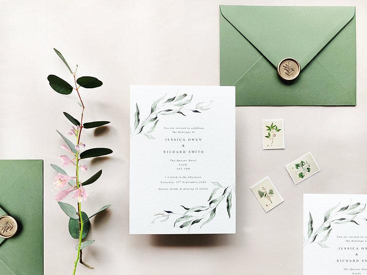 S O P H I A . wedding invitation