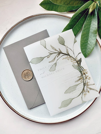 E V A . wedding invitation