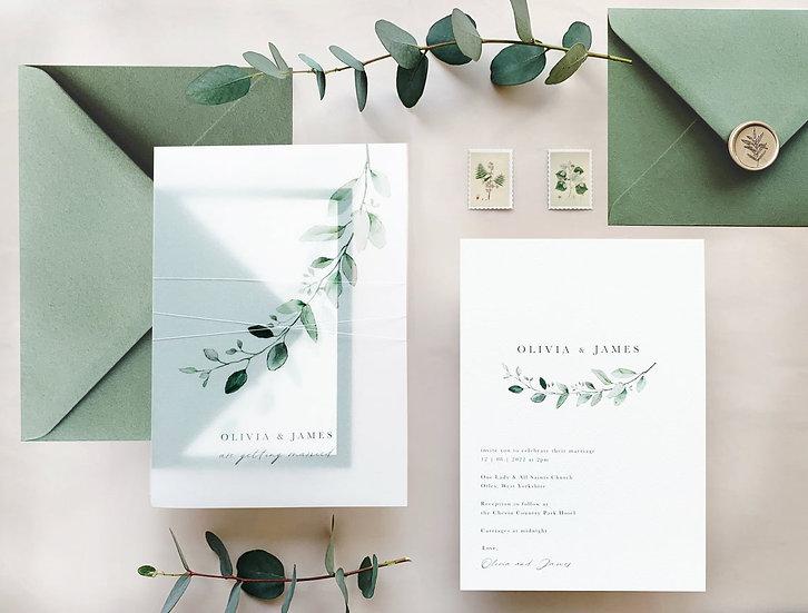 M I A . wedding invitation