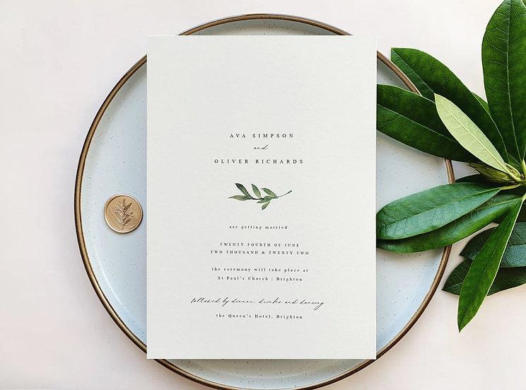 B O T A N I C A L . wedding invitation