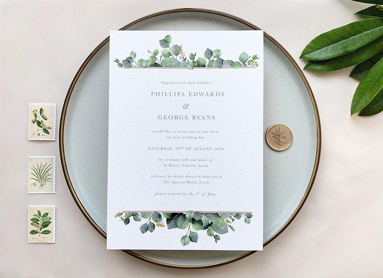 V I C T O R I A . wedding invitation