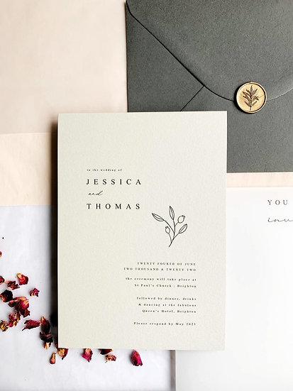 M I N I M A L . wedding invitation