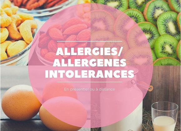 Allergies/allergènes, intolérances