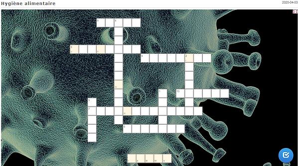 Image du jeu de mots croisés à faire sur le thème de la qualité