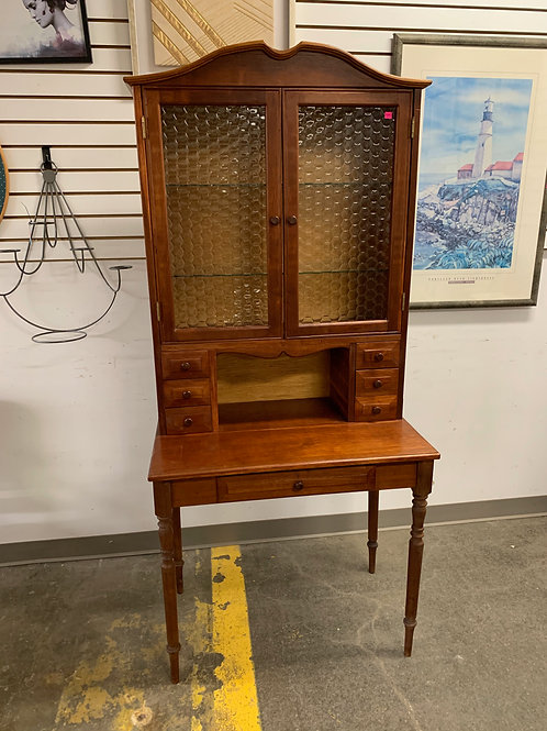 Antique Cabinet with Honeycomb Glass