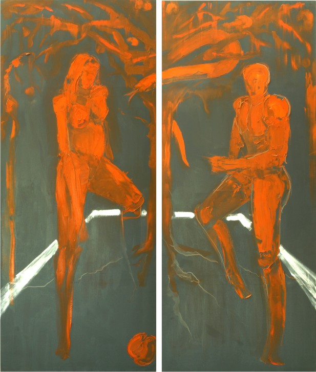 ADAM & EVE 2008 oil on canvas 160X140cm