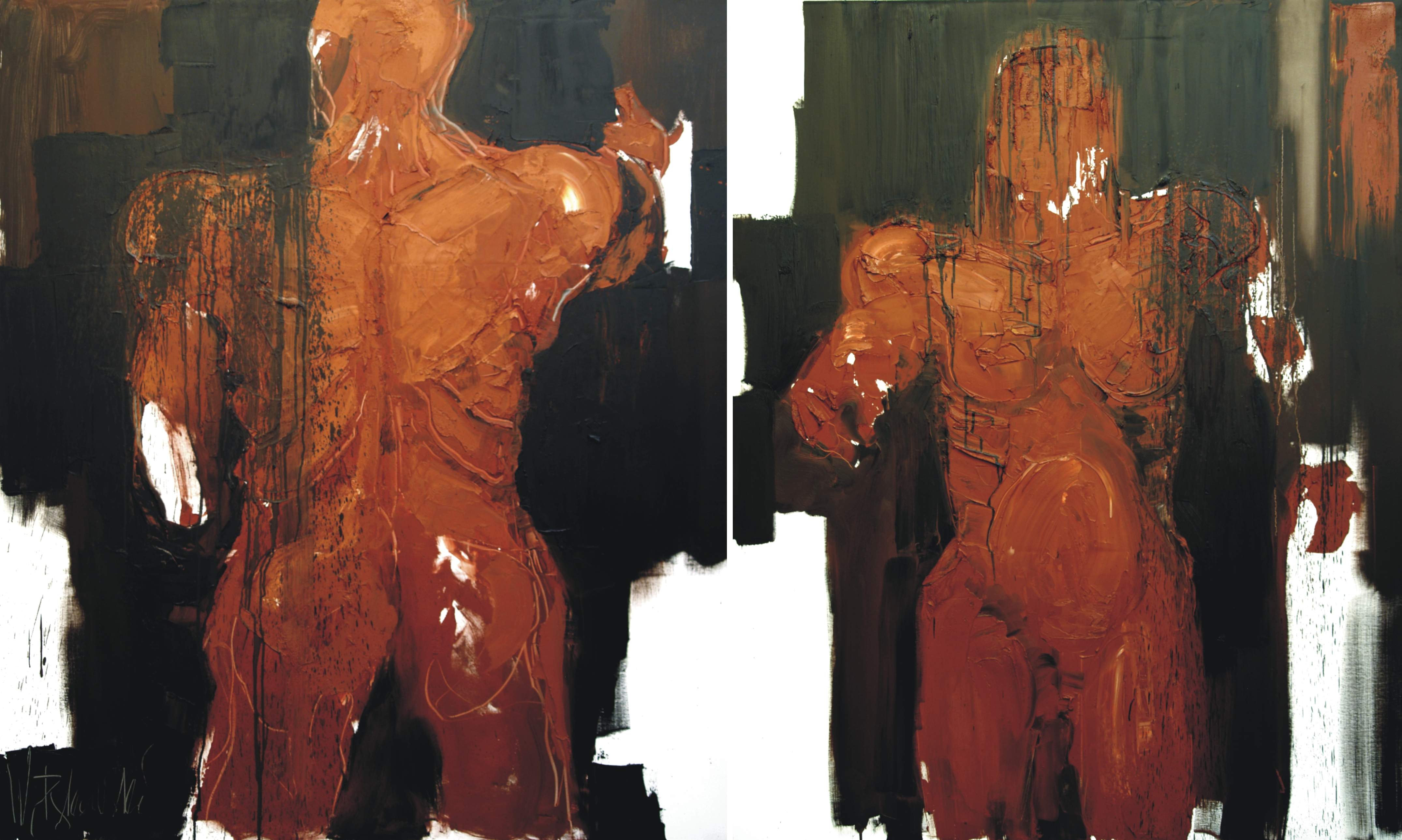 Adam_and_Eve,_2010,_oil_on_canvas,_two_sections,_150X270,_59X106,5""