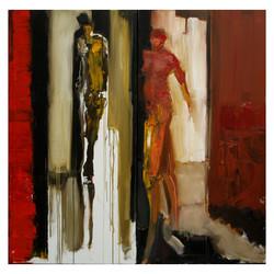 ADAM & EVE 120X120 oil canvas 2010