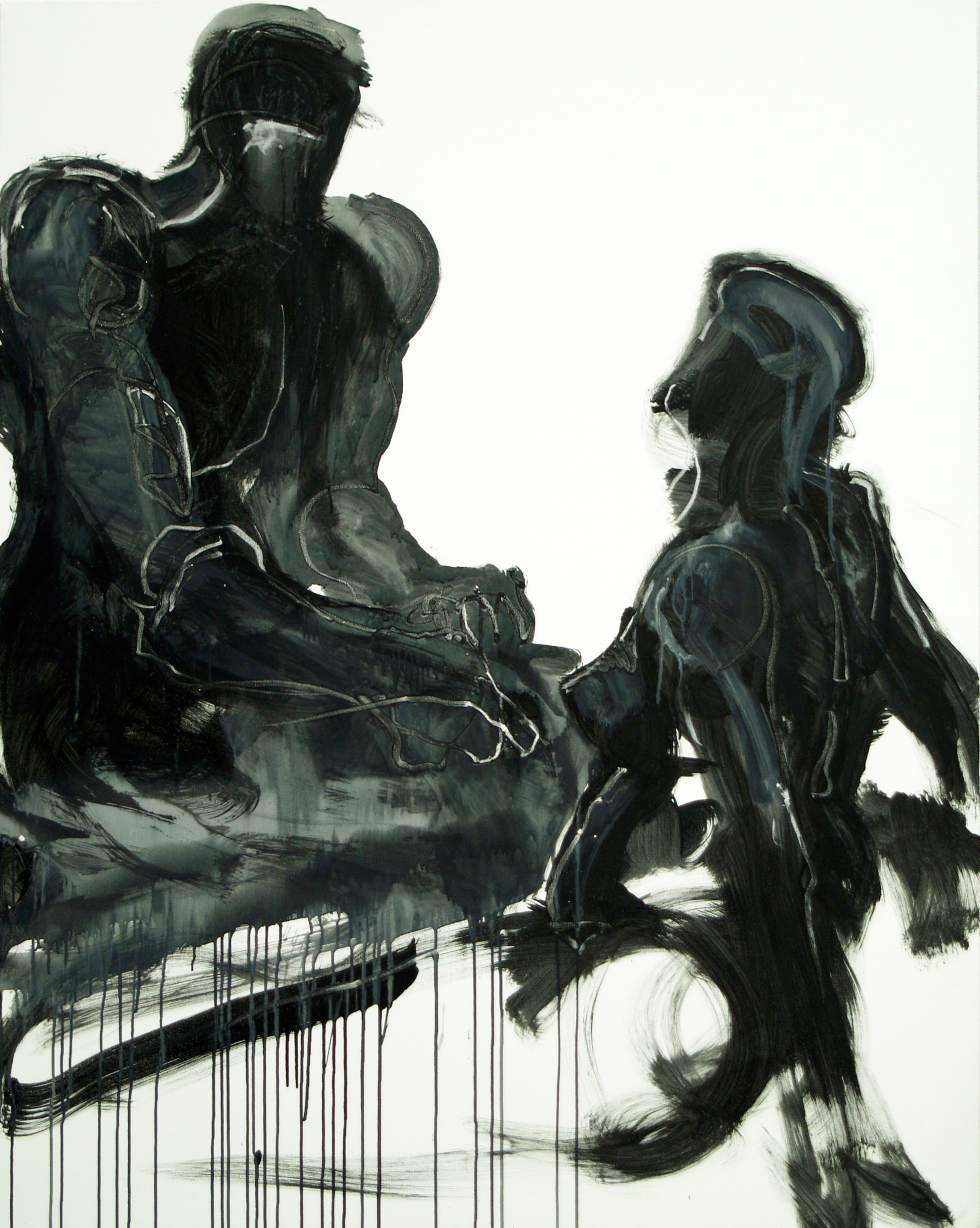 Talk, 2009, mixed media on canvas, 150X120cm copy