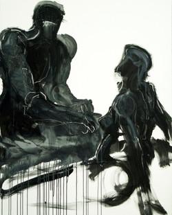 Talk, 2009, mixed media on canvas, 150X120cm copy