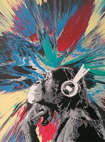 'Disco Chimp - Explosive' 80x60cm Canvas