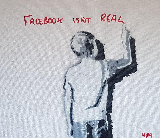 """""""A boys musings..."""" 25x20cm Spray Paint on canvas street art"""
