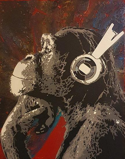 'Disco Chimp' - 50 x 40cm Canvas