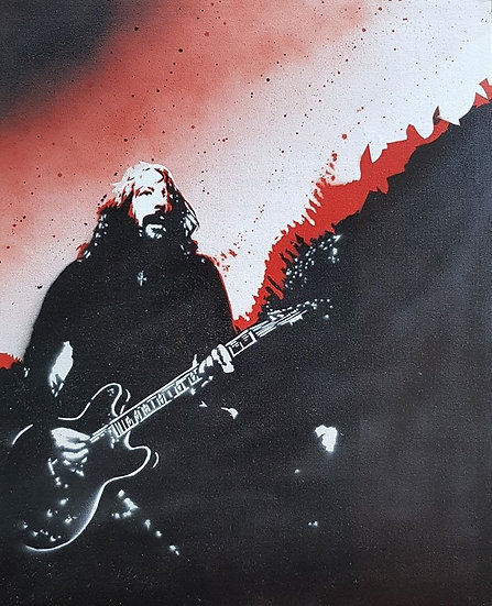 Dave Grohl Spray paint portrait on 50x40cm canvas street art!