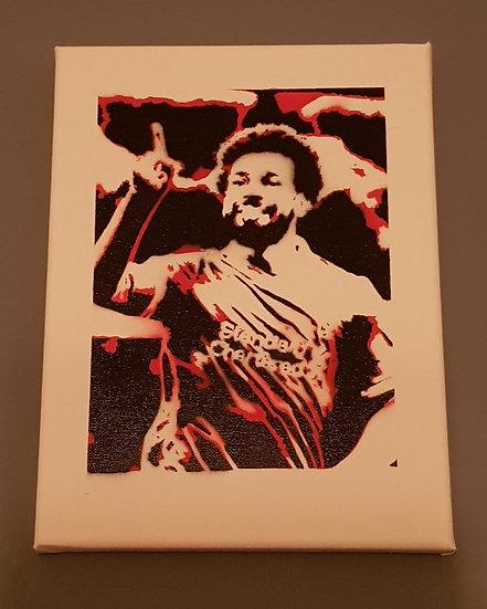 Mo Salah - Liverpool - Champions! - 25x20cm Spray paint on canvas street art