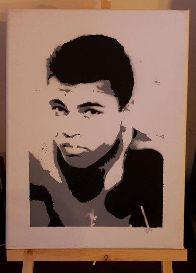 Muhammed Ali Portrait. 25x20cm