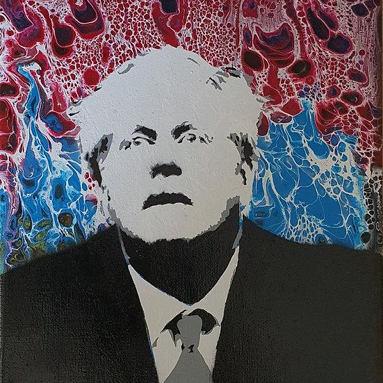 'Broken Boris' 30 x 25 cm canvas